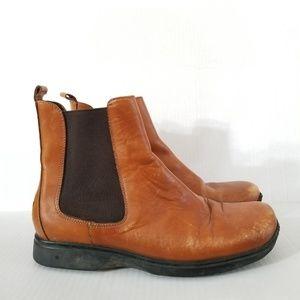 Coach Cognac Reine Brown Leather Boots 41 10US